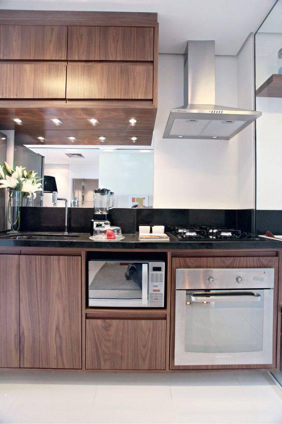 Cozinha Planejada  107 modelos que vão mudar sua vida [Fotos] # Bancada Cozinha Inox Sob Medida