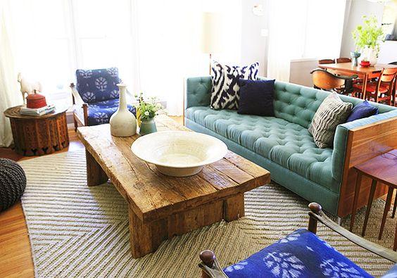 mesa de centro madeira rustica