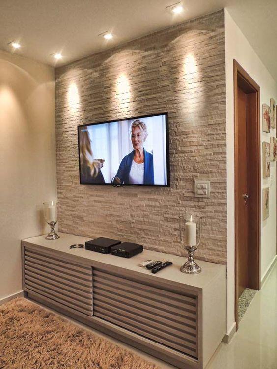 Sala Com Tv Na Parede ~ uma boa iluminação faz muita diferença na decoração, como na sala