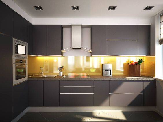 parede amarela da cozinha