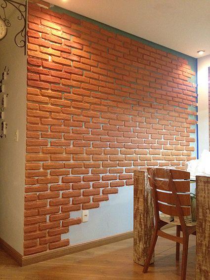 parede de tijolinho falso