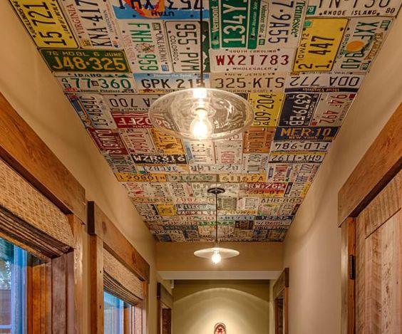 placas no teto