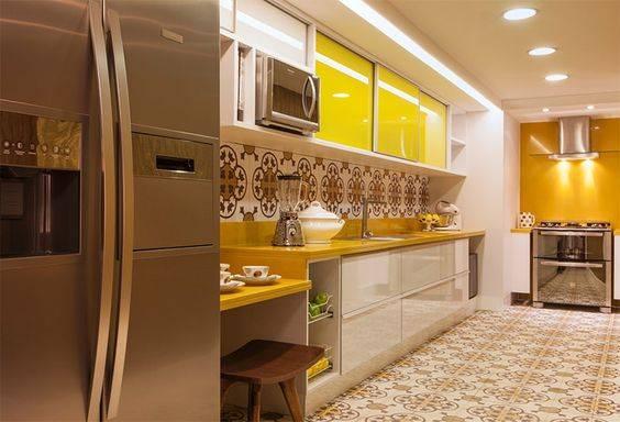 usar amarelo na cozinha