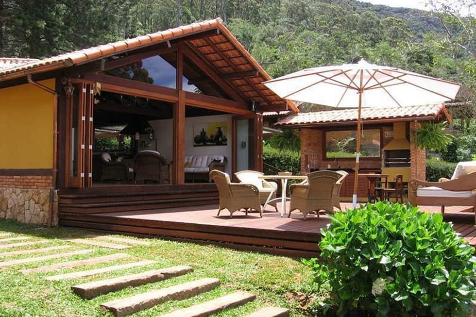 Casas de campo com deck