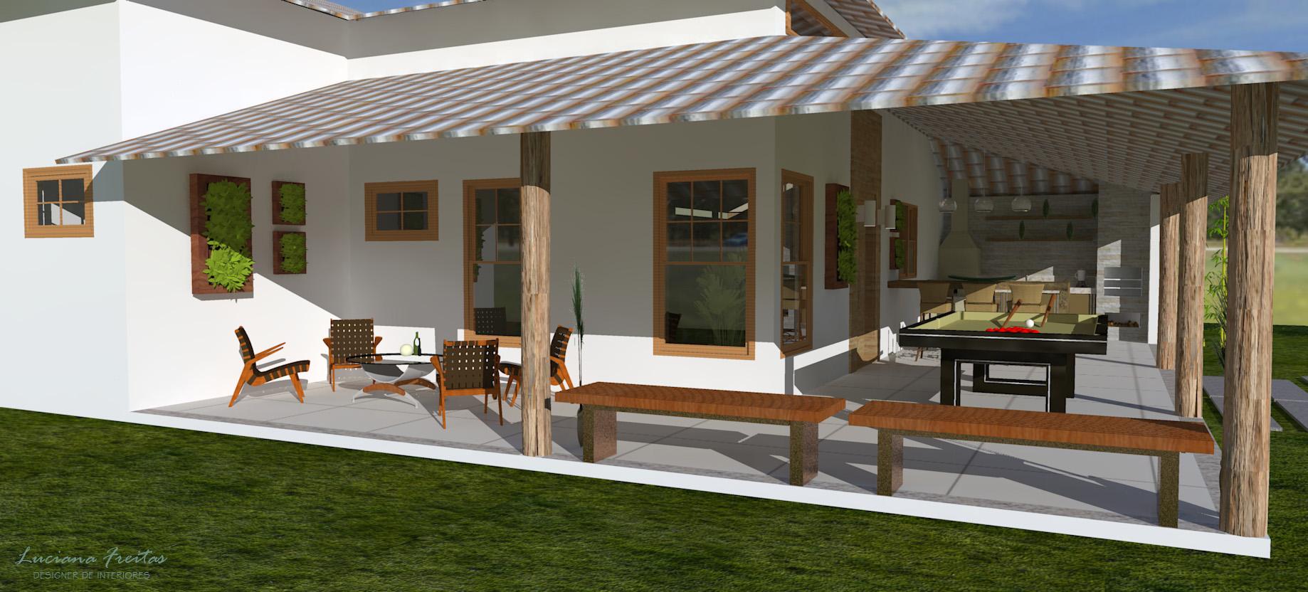 Casas de campo com varandas simples