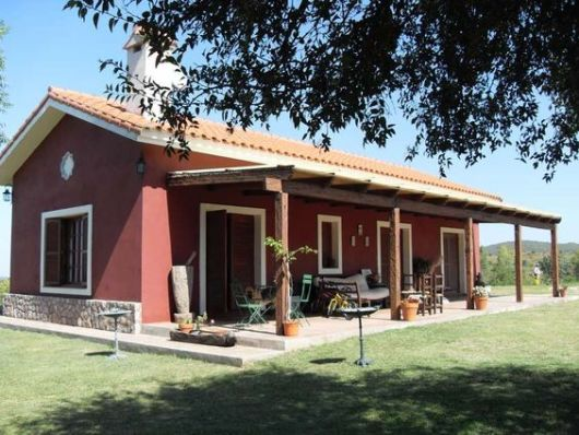 Casas de campo com varandas simpless