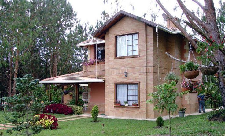 Casas de campo tijolo a vista e plantas