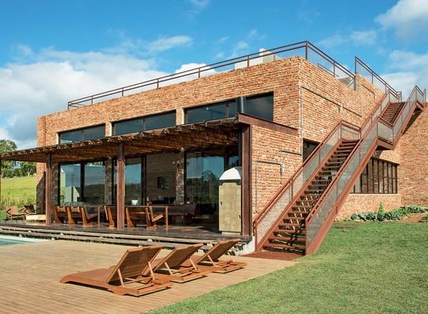 Casas de campo tijolo a vista