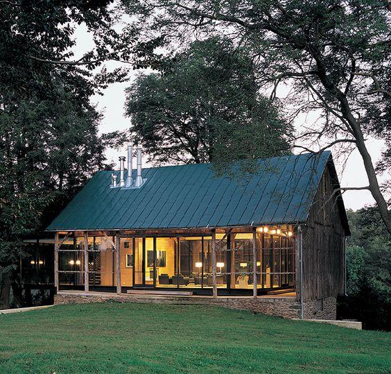 cabana reformada de campo