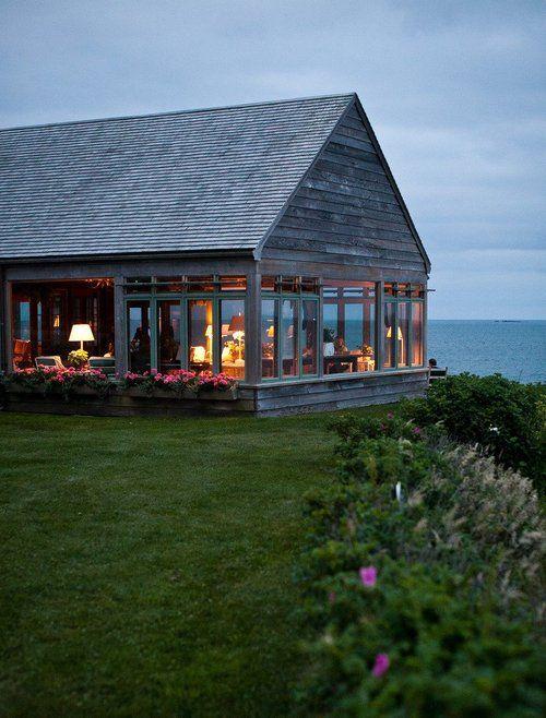 casa de campo com vista para o litoral