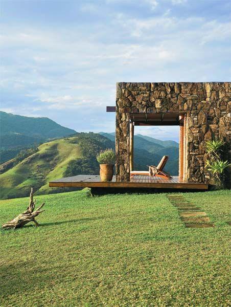 casa de campo com vista