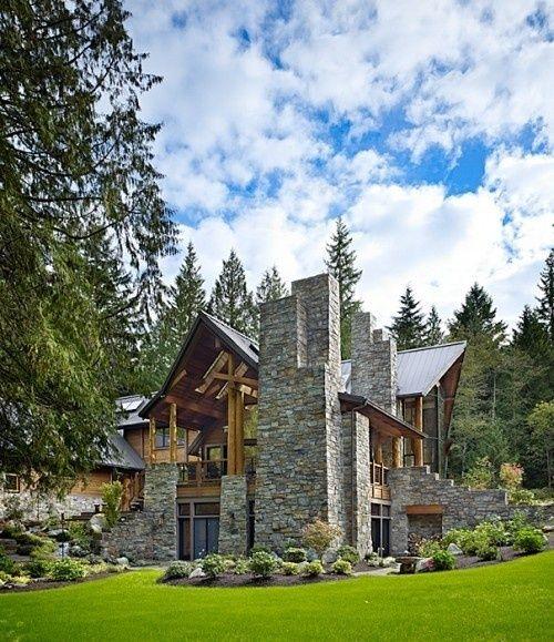 casa de campo linda em pedra