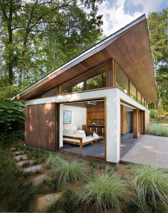 Casa de campo veja mais de 60 fotos incr veis for Building a detached garage on a slope