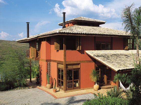 Casa de campo veja mais de 60 fotos incr veis for Casas pintadas interior