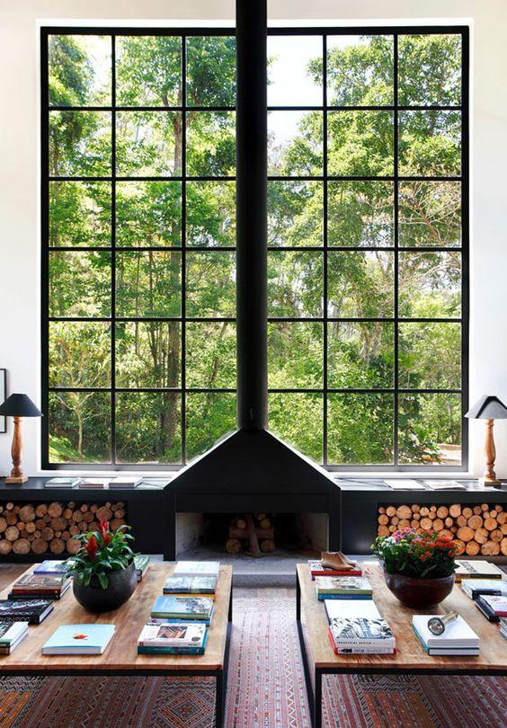 janela com visão ampla