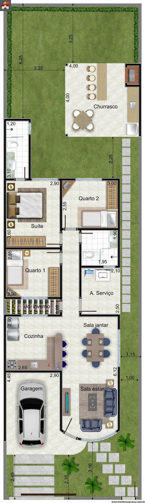 Plantas De Casas Projeto E 100 Modelos Gr Tis Para Voc
