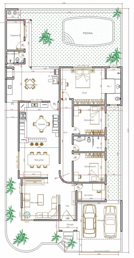 Famosos Plantas de Casas - Projeto e 100 Modelos Grátis Para Você EM12