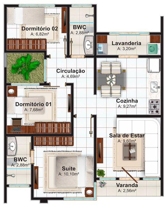 Plantas de casas 100 modelos gr tis para voc - Plantas para casa ...