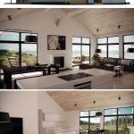 Fotos de plantas de casas com fachadas com madeira clara