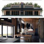 Fotos de plantas de casas com fachadas com térreo
