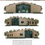 Fotos de plantas de casas com fachadas e piso de madeira