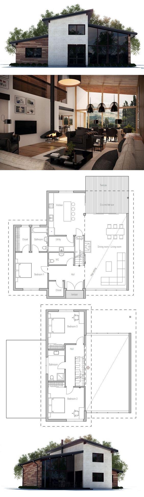 Fotos de plantas de casas com fachadas moderna