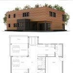 Fotos de plantas de casas com fachadas quadrada
