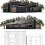 Fotos de plantas de casas com fachadas telhado nivelado