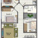 Imagens de plantas de casas com 3 quartos