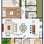 Imagens de plantas de casas com garagem grande