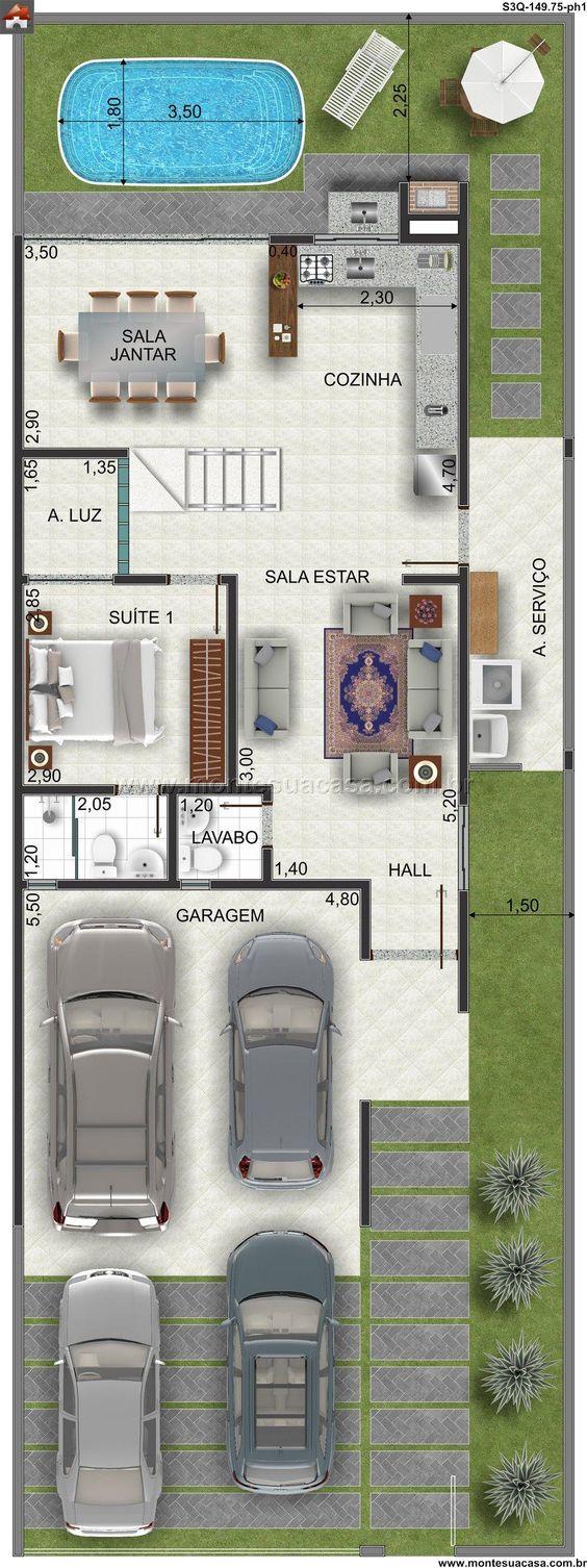 Imagens de plantas de casas com picina redonda