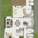 Imagens de plantas de casas com piscina