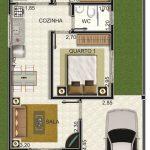 Imagens de plantas de casas com quarto de casal