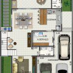 Imagens de plantas de casas com sala grande
