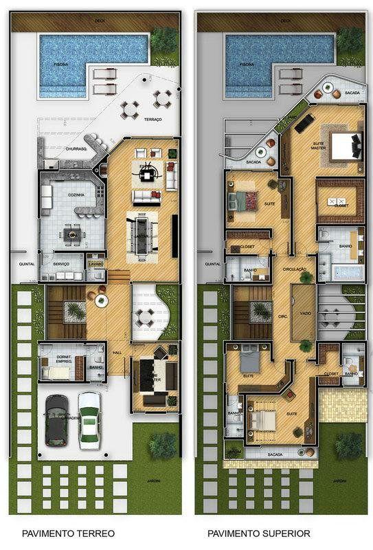 Imagens de plantas de casas diversas