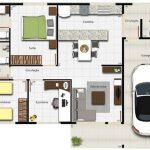 Imagens de plantas de casas garagem de 1 carro