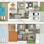 Imagens de plantas de casas garagem para dois carros