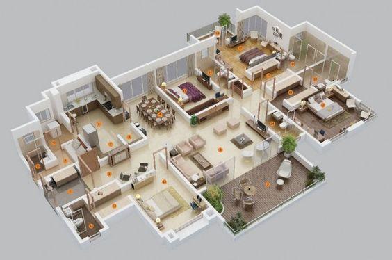 Plantas de casas 3D grande