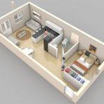 Plantas de casas 3D sem separação