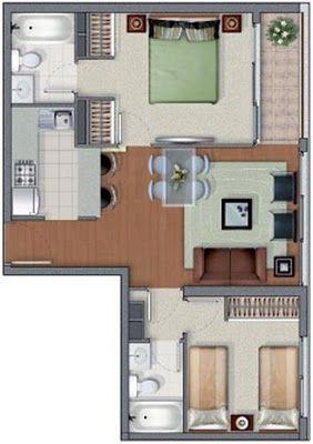 Plantas de casas simples quarto com suite