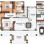 Plantas de casas térreas com suite
