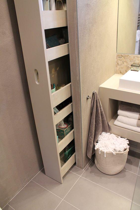 aproveite os espaços no banheiro