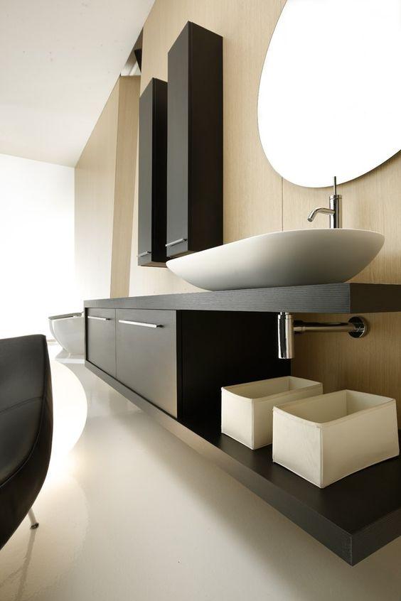 Mais de 100 Banheiros Planejados  As Melhores Dicas Para Você -> Banheiro Planejado Preto