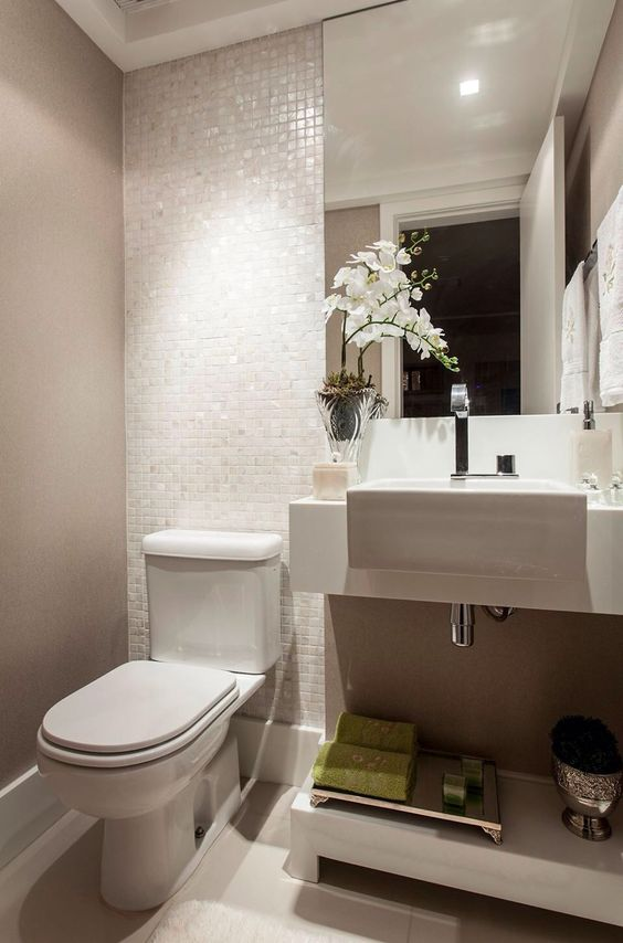 Mais de 100 Banheiros Planejados  As Melhores Dicas Para Você # Banheiros Sociais Modernos