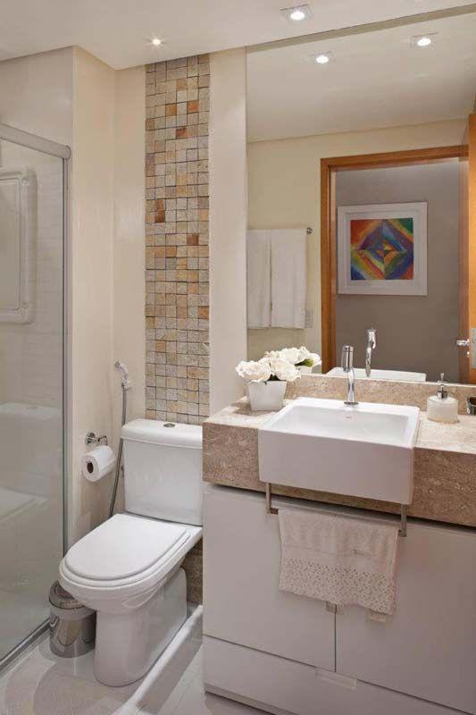 Mais de 100 Banheiros Planejados  As Melhores Dicas Para Você -> Banheiro Decorado Com Pouco Dinheiro