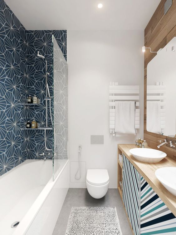 banheiro azulejoz azuis
