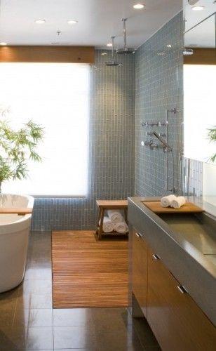 banheiro com box aberto