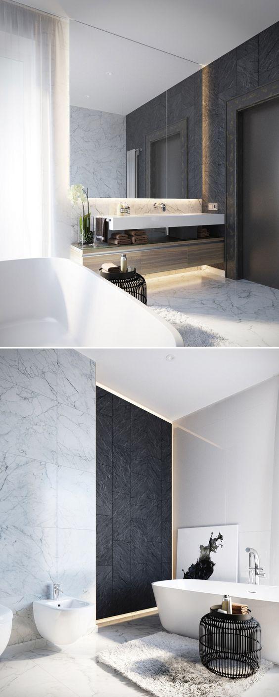 Mais de 100 Banheiros Planejados  As Melhores Dicas Para Você -> Planejamento De Banheiro Com Banheira