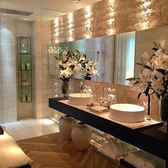 Mais de 100 Banheiros Planejados  As Melhores Dicas Para Você -> Banheiro Pequeno E Luxuoso