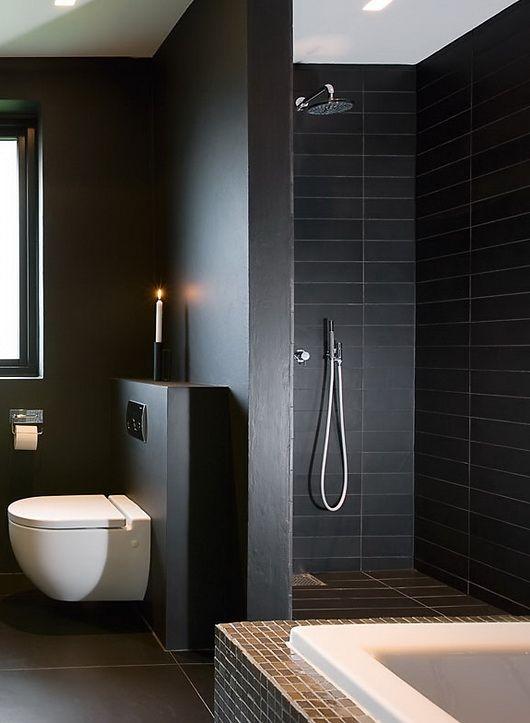 banheiro pintura preto